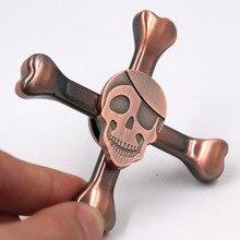10pcs Skeleton Fidget Spinner Anxiety Stress Relief Focus Sensory Toys Funny Gift Random Color Hand Spinner