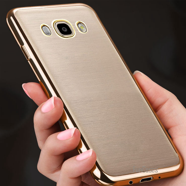 For Samsung J5 2016 Case Rose Gold Crystal Clear Transparent Soft TPU Back Cover for Samsung Galaxy J5 2016 Case Silicone Coque