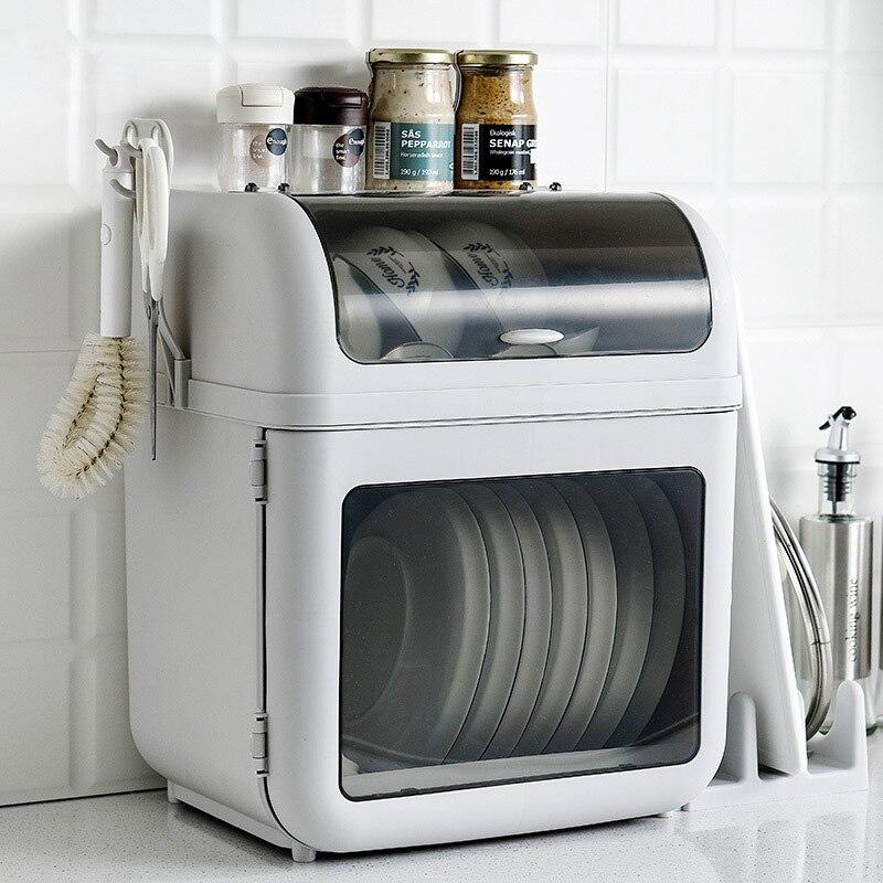 PP Double couches vaisselle stockage grande capacité bol plaque Rack accessoires de cuisine Pot porte-couvercle résistant à la poussière cuisine rangements