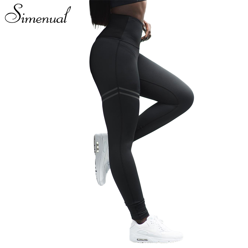 Simenual 2018 New arrival sportswear leggings for women striped slim sexy fitness legging female athleisure bodybuilding pants