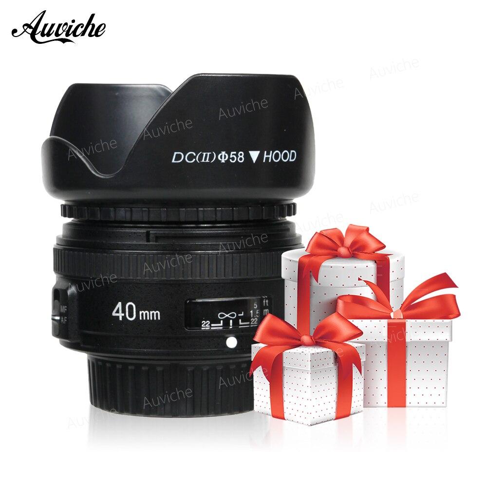 YONGNUO 40mm F2.8 Lente Luce-peso Standard Prime AF/MF Auto Messa A Fuoco Manuale Lente YN40mm Per Nikon fotocamere REFLEX Digitali