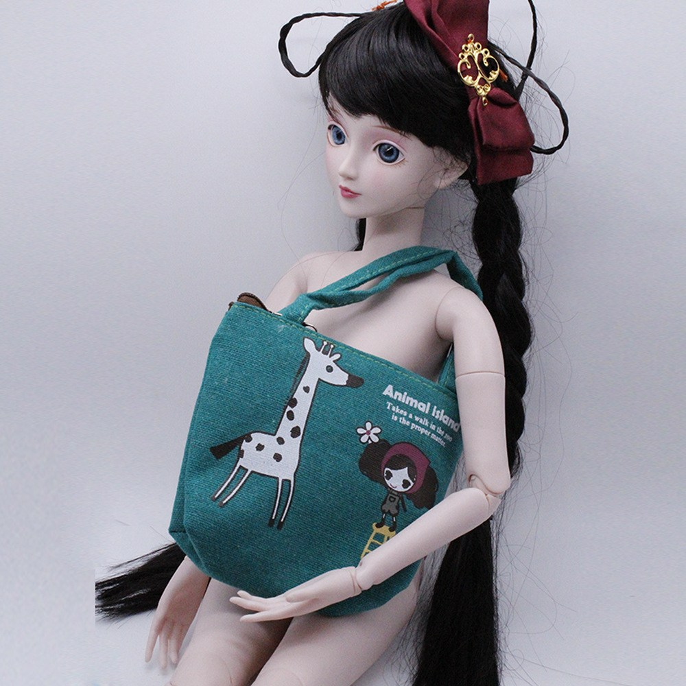 1pcs 4color One shoulder Canvas bag satchel dolls only Fit for 60cm 18inch 1 3dolls Doll accessories girls BJD SD dolls in Dolls Accessories from Toys Hobbies