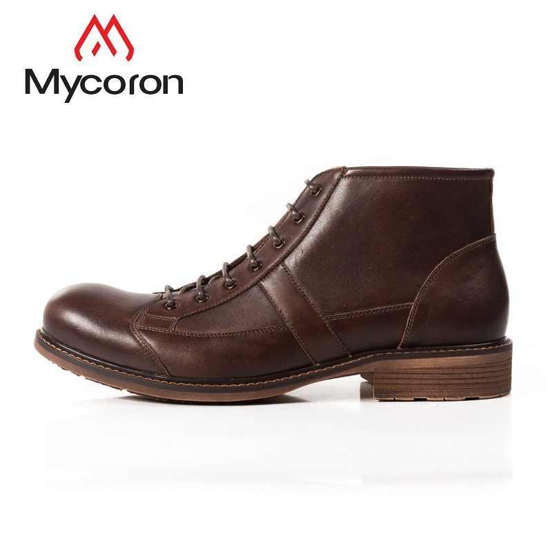 MYCORON/2018 Мужская обувь модные мужские Ботильоны Роскошные итальянские брендовые