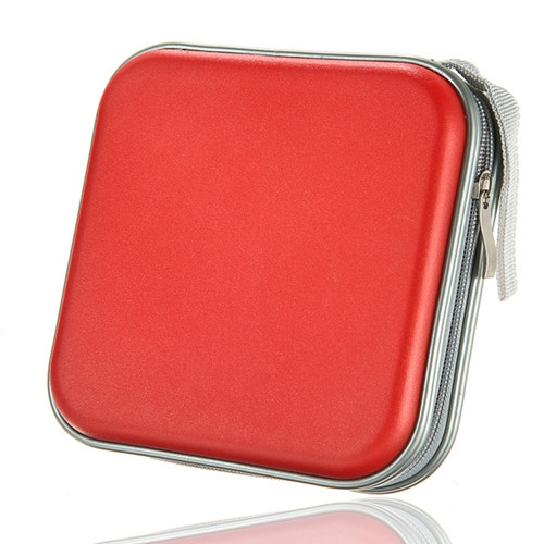 EDT-40 CD DVD Disc Storage Carry Case Cover Holder Bag Hard Box - Red ...