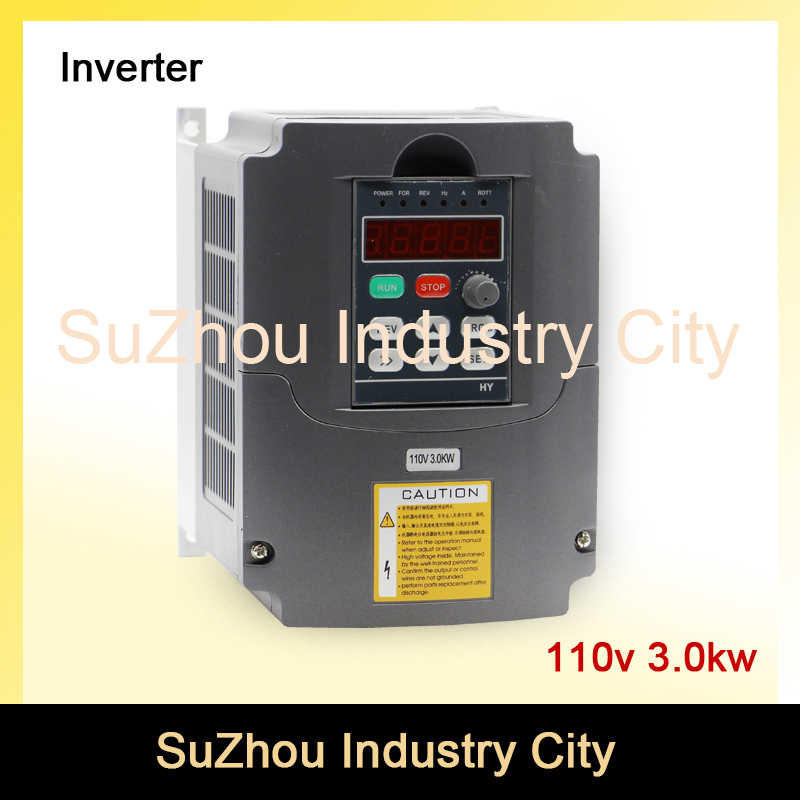 110V 3kw VFD Variable Frequency Drive VFD /Inverter Input 1HP 110V, Output 3HP 110V CNC Spindle driver spindle speed control 220v 5 5kw vfd variable frequency drive vfd inverter 3hp input 3hp output cnc spindle motor driver spindle motor speed control