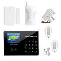 PADS Wireless Zones App Control GSM Alarm System With TFT Color Panel Home Security Alarm System
