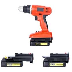 Sprzedaż hurtowa 20 V akumulator do czarnego Decker narzędzi 18 V konwertować czarny Decker zestaw narzędzi w Akcesoria do elektronarzędzi od Narzędzia na