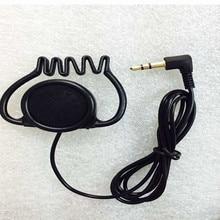 Linhuipad 3.5mm Stereo Hook earpiece single side earphone headset for tour guide system two way radios