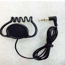 Linhuipad 3.5mm Stereo Hook słuchawka jednostronnie słuchawki zestaw słuchawkowy dla przewodnik wycieczek system dwukierunkowe radia