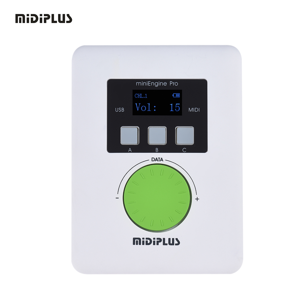 MIDIPLUS miniEngine Pro External USB Sound Module Built in Rechargeable Lithium Battery 128 MIDI Sounds 64