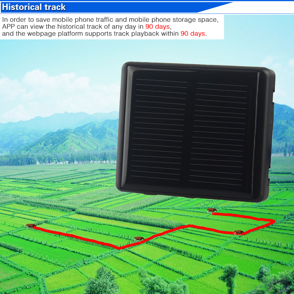 Multi-function RF-V26 Solar WIFI Cattle Cow Sheep Horse Camel GPS Tracker Locator SOS Alarm Anti-remove Alarm Voice Monitoring