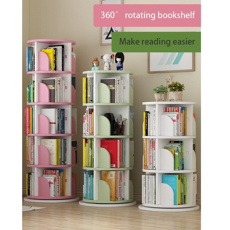 hot sales d1ec8 1542d US $97.0 |ITAS3120 Revolving bookshelf shelf children's picture bookshelf  simple home use space simple landing students creative bookcase-in Bathroom  ...