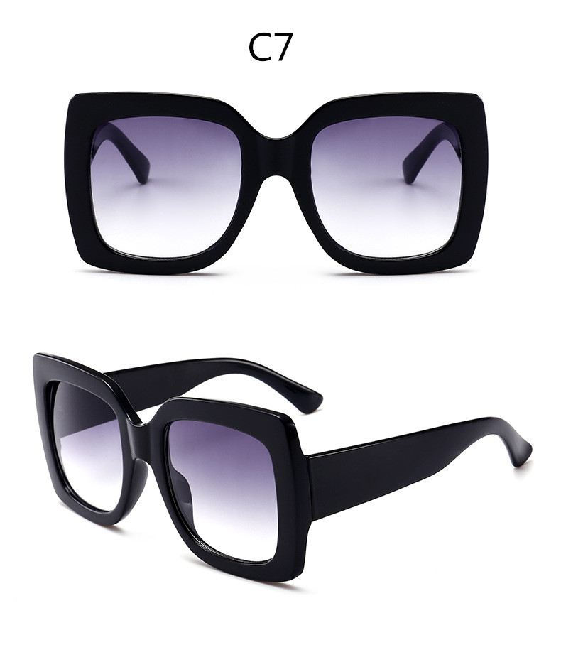 ASUOP2018 new retro large frame fashion sunglasses luxury classic men driving glasses ladies travel color UV400 cat eye goggles  (18)