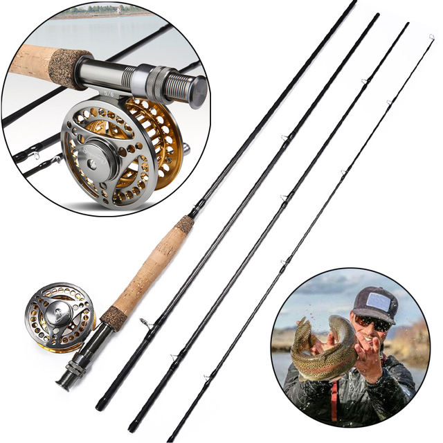 940b11c2b Sougayilang 2.7M Fly Fishing Rod Reel Combo Lightweight Portable Fly Rod  and CNC-machined