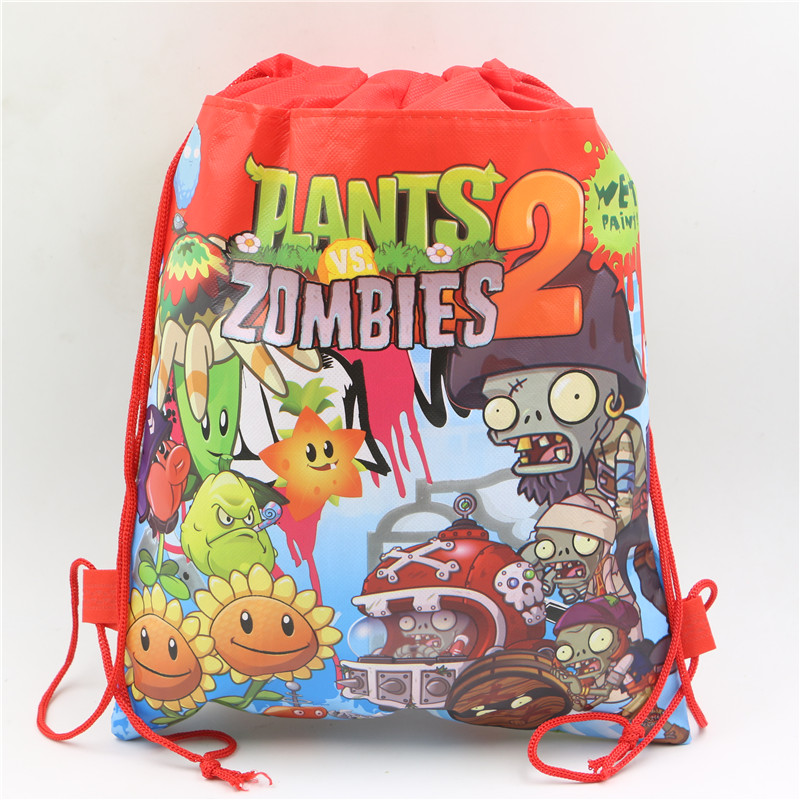 plants vs zombies decoration baby shower kids favors theme non woven fabric drawstring bags backpack - Zombie Party Supplies