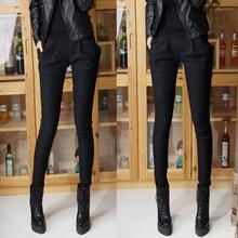 Осенние Брюки женские Мода Полный эластичный Высокой Упругой плюс размер Брюки Женские брюки женщина повседневные брюки тощий карандаш JX918