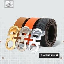 DUJIAOSHOU Pin buckle belt fashion casual pants with simple male belt DJS9590-004