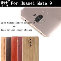 Back Camera Tempered Glass Lens Cover Screen Protector Battery Cover Wood 3MM Sticker Protecctive Film For