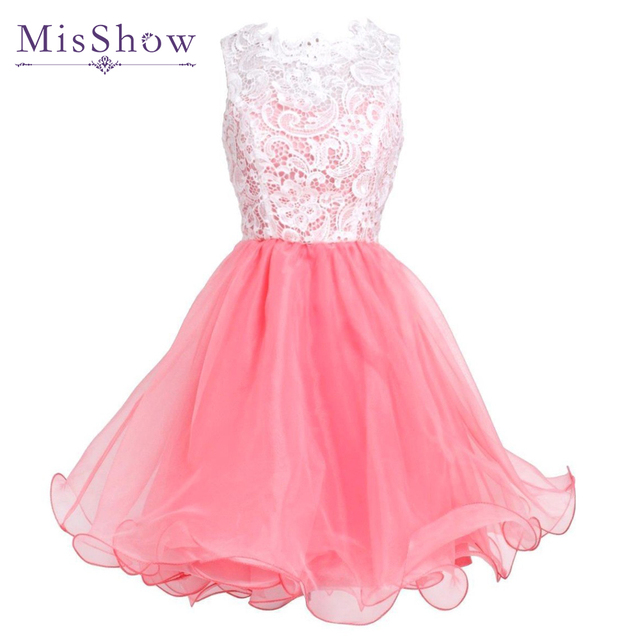 2018 blanco Encaje blusa rosa tulle falda Vestidos de fiesta 8th ...