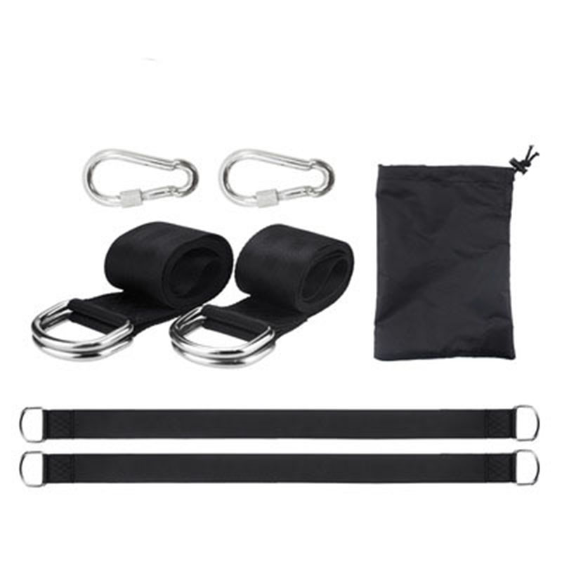 Outdoor Heavy Duty Tree Swing Hanging Kit Carry Pouch Easy Fast Installation Tree Hammock Straps With Safer Lock Carabiner Hooks