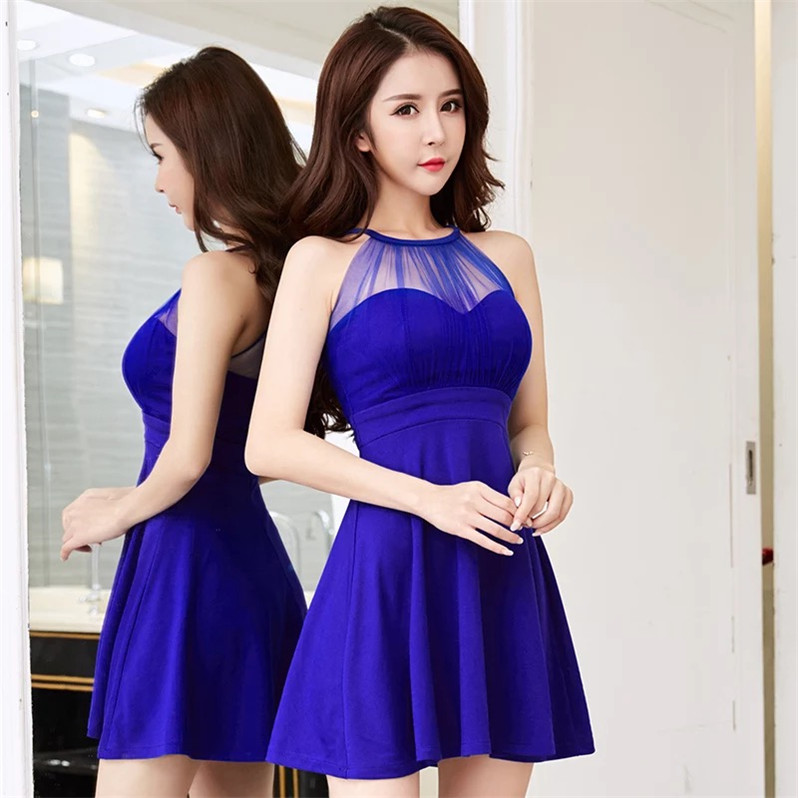 2019 New Pattern summer dress women Sexy Nightclub Hollow Out Lace dresses Waist To Show Thin Full Dress