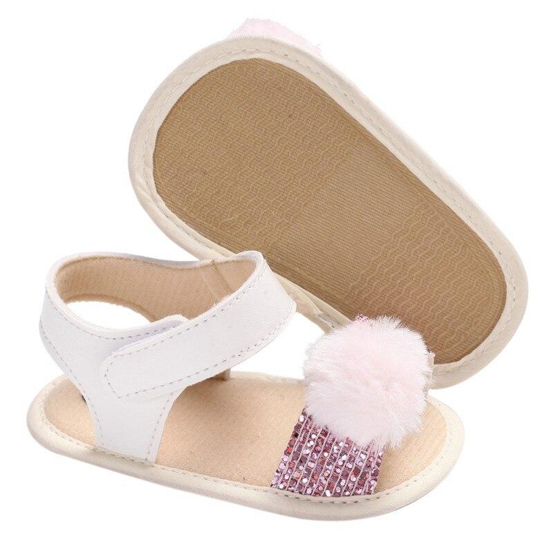 Новорожденный ребенок точка цветок первые ходунки Летняя обувь девочки дети для детей, на мягкой подошве Малыш обувь 0-18 м