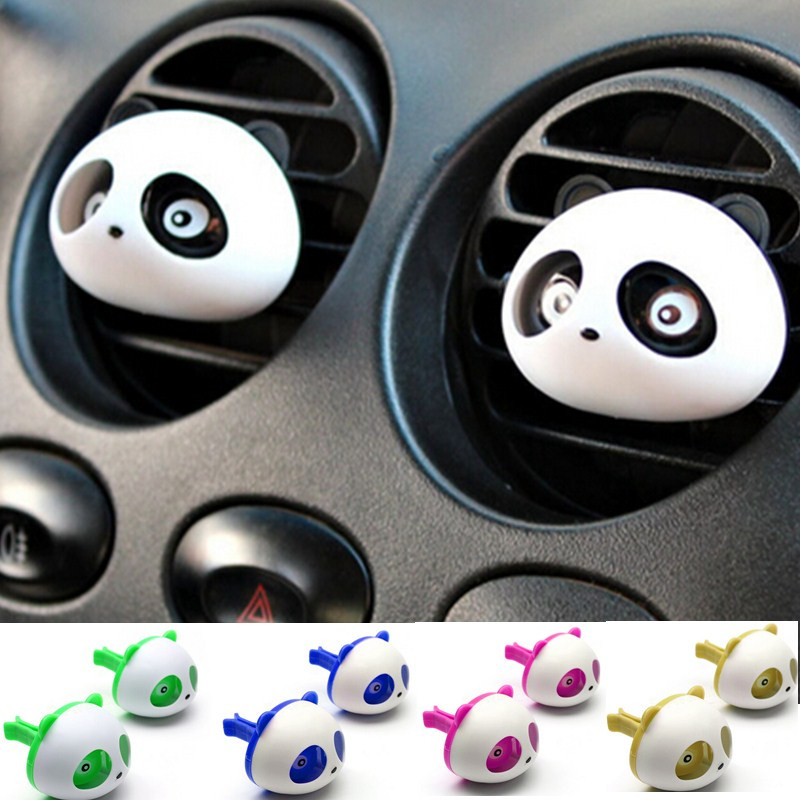 New Car Styling Air Freshener 1 Set Car Air Conditioning Vent Perfume Panda Eyes Will Jump 5 Colors Parfume