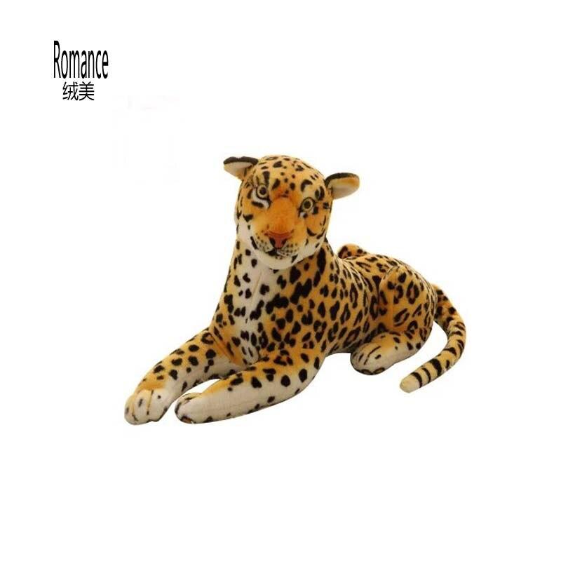 La simulation léopard jouet Gattopardo peluche peluche 80 cm taille grande taille cadeau d'anniversaire
