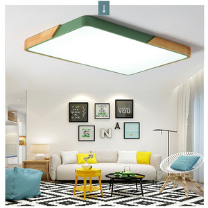 Image 5 - Modern square 220V LED ceiling lights acrylic dimmable ceiling lamps for kitchen living room bedroom study corridor hotel room