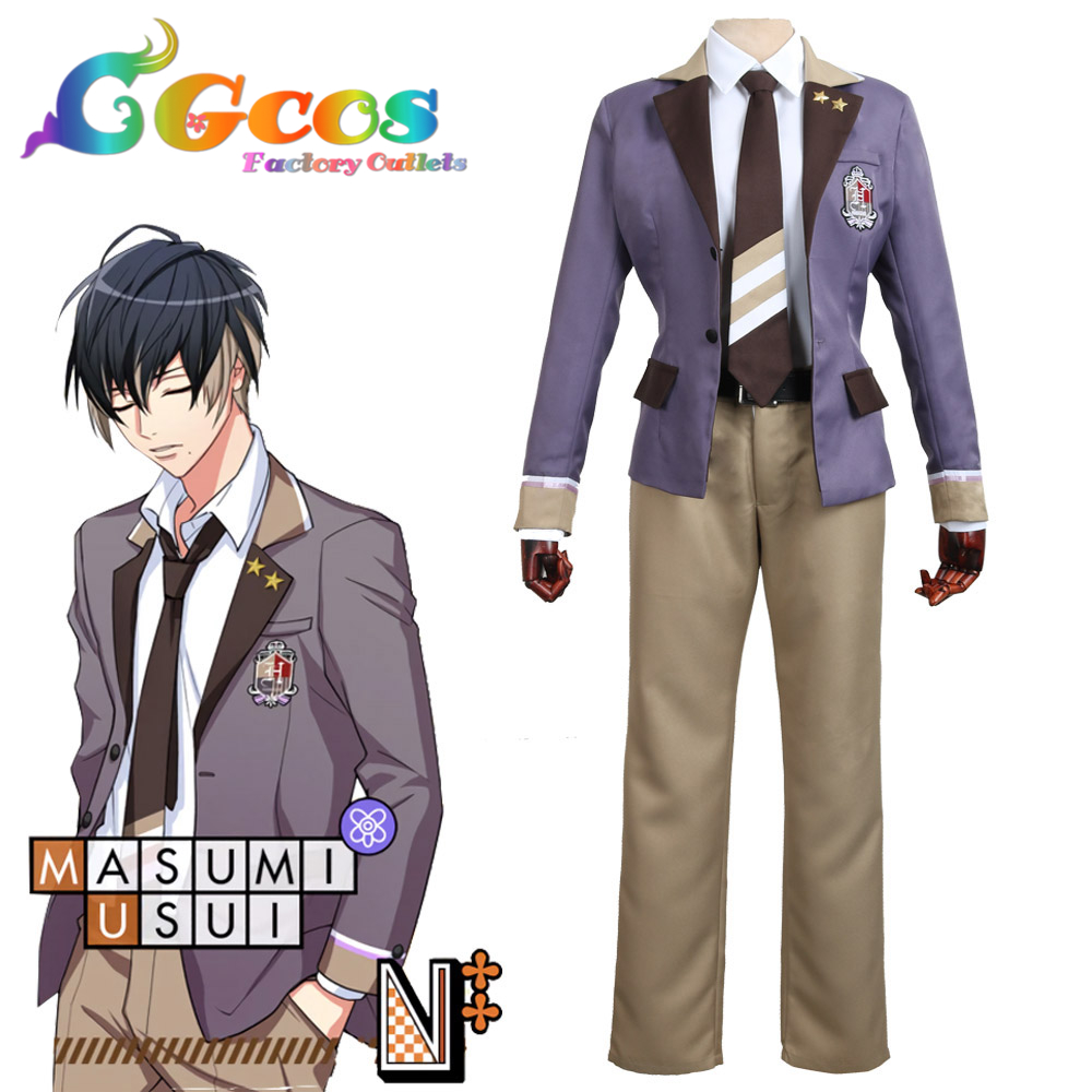 CGCOS Free Shipping Cosplay Costume COS A3! Spring Masumi Usui Uniform Halloween Christmas Party Anime