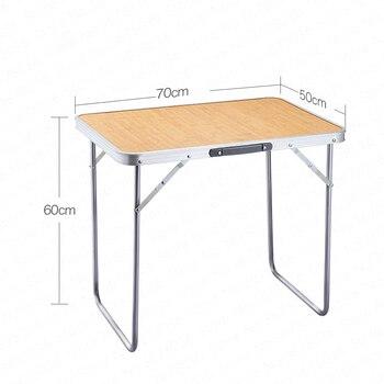 Décrochage Pliant Extérieur Maison Simple Pliant Portable Petite Table Pliante Bbq Jeu Carte Camping Tables Bureau Minimaliste Moderne