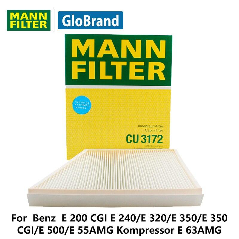MANNFILTER car Cabin Filter CU3172 for Benz E 200 CGI E 240/E 320/E 350/E 350 CGI/E 500/E 55AMG Kompressor E 63AMG auto parts