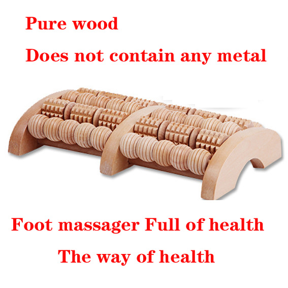 pure solid wood foot acupuncture point, roller bottom foot massager, wooden roller, solid wood foot, crus, foot massage native wood acupuncture massage rod acupuncture point rod foot massage tool camphor wood triangle bird foot massage device