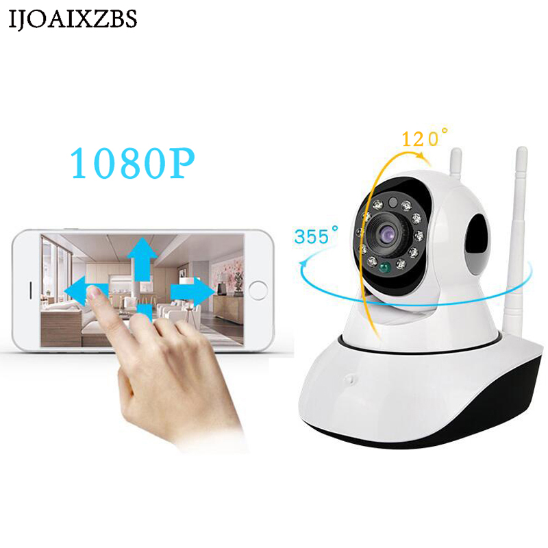 1080P HD Surveillance IP Camera CCTV Wireless WIFI SD Card Two Way Intercome Night Vision Home Security Baby Monitor China rxd free ship p2p ip camera 720p hd wifi wireless baby monitor ptz security camera onvif cloud night vision micro sd card