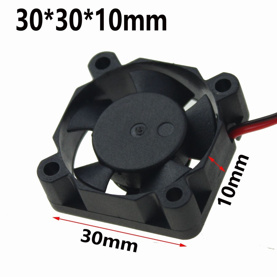 Купить с кэшбэком 5Pcs Gdstime 30x30x10mm Electronic 3D Printer 5V DC 30mm Mini Brushless Cooling Fan Cooler Ball bearing