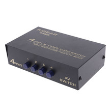 4 Port AV Audio Video RCA 4 Ingresso 1 Uscita Switcher Selettore Splitter Box Supporto di Trasporto di Goccia(China)