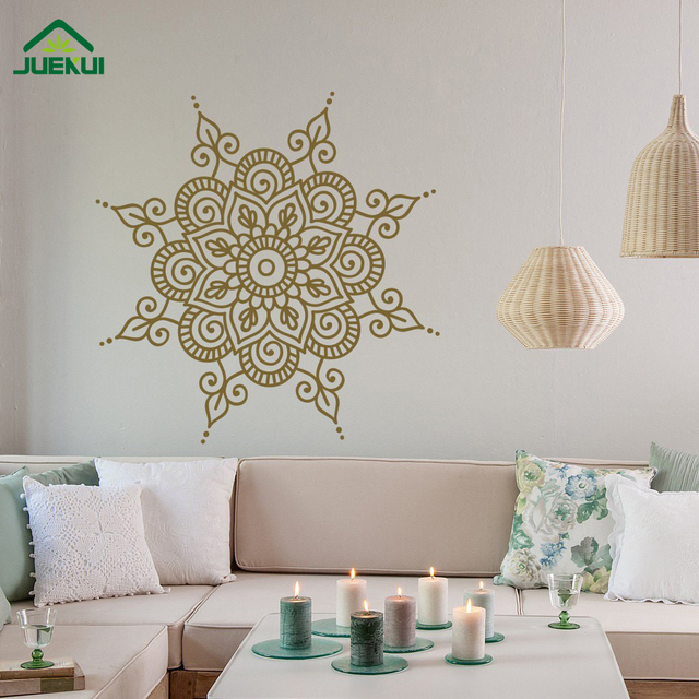 Removable Mandala Yoga Home Decorations Vinyl Wall Stickers Home