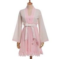 Sakura thỏ sweet công chúa dress lolita long sleeve waistband cổ điển fairy dress