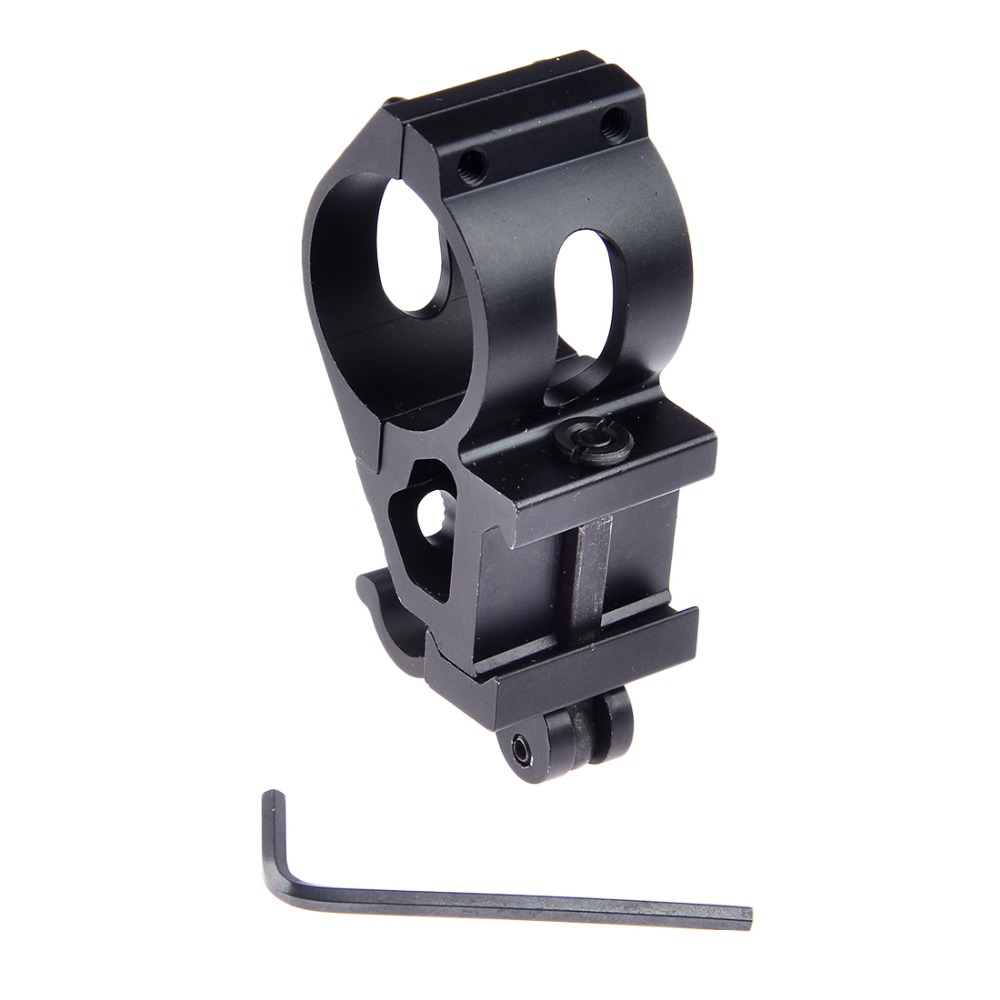 25mm Offset Picatinny Weaver Rail Bicycle Light Holder with QD Quick Release Base Flexible Bike Lamp Holder Mount tactical quick release scope ring mount 25mm 30mm dual ring qd auto lock picatinny weaver 20mm rail for rifle shotgun