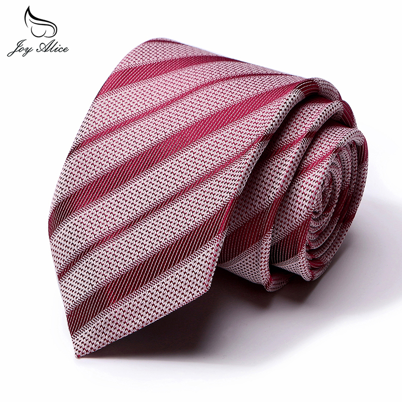Joy Alice 8 Cm Fashion Dot Tie Classic Necktie Blue Neck Tie Red Striped Ties For Men Wedding Party Business Accessories