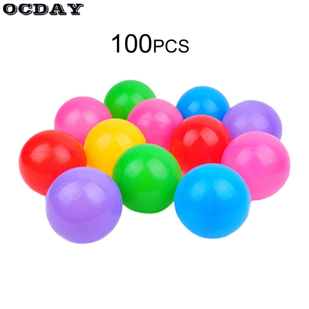 100pcs 5.5cm Colorful Ball Soft Plastic Ocean Ball Baby Kid Swimming Water Pool Ocean Wave Ball Thickening Outdoor Sports Toy