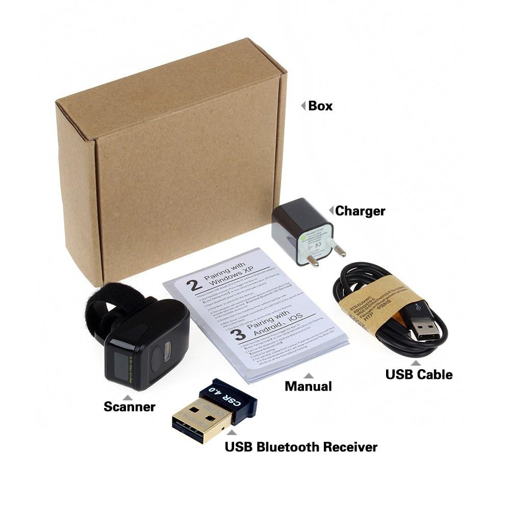 IOS Android üçün MJ-R30 Portativ Bluetooth Ring 2D Skaner Barkod - Ofis elektronikası - Fotoqrafiya 6