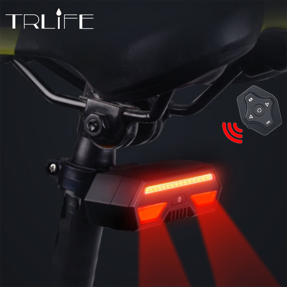 Built-in 2200mAh Battery Pack Bicycle Light USB Rechargeable Mount Bicycle Lamp Rear Tail Light Led Turn Signals Cycling Light