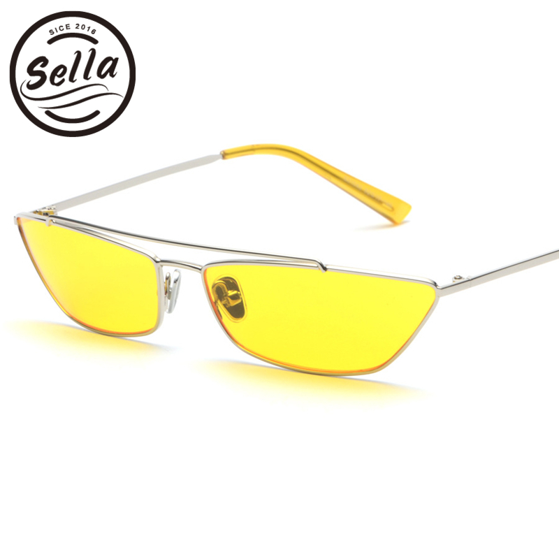 2018 New Arrival Retro Fashion Men Women Small Square Sunglasses Alloy Rectangle Candy Color Tint Lens Sun Glass Unique Eyewear