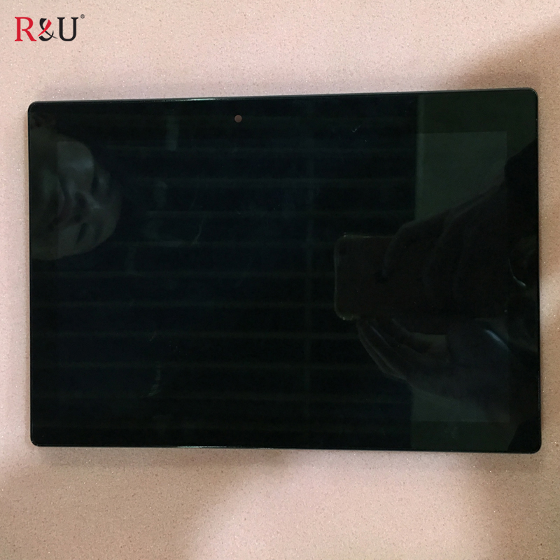 R&U used parts 10.1 capacitive touch screen + LCD Display Digitizer Assembly with frame For Lenovo Tab 2 A10-70 A10-70F A10-70L hsd103ipw1 a10 hsd103ipw1 lcd displays screen