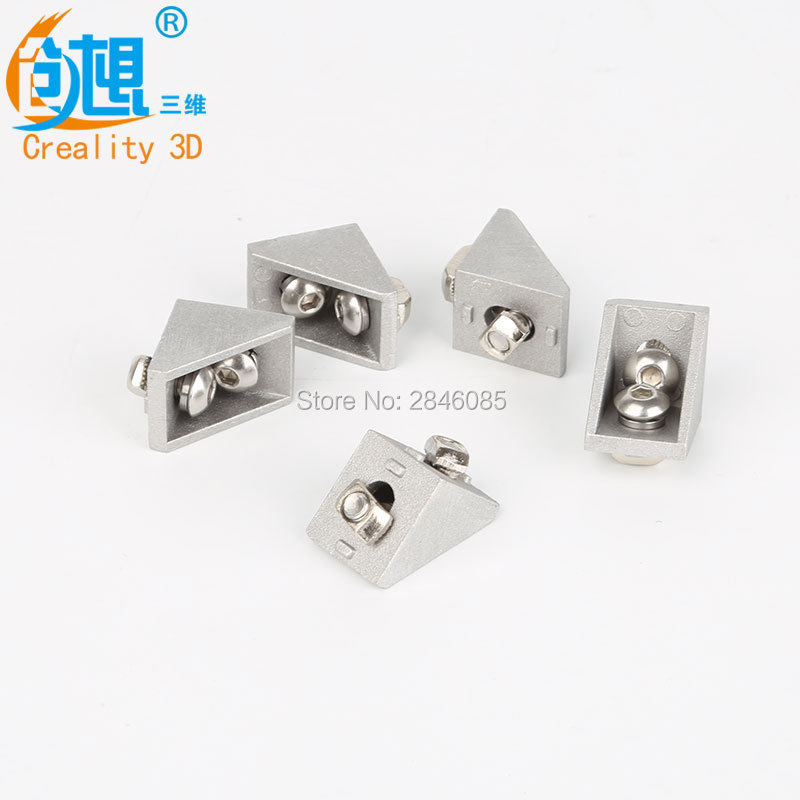 Creality 3D Printer Parts angle code with screws 2020 aluminum fittings aluminum angle pieces right-angle connector T-type yoursfs 18k white gold plated black rose flower pendant drop hook earring for women