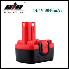 Eleoption 14.4 v 3000 mah ni-mh rechargeable batterie pour bosch bat038 bat040 bat140 bat159 bat041 3660 k