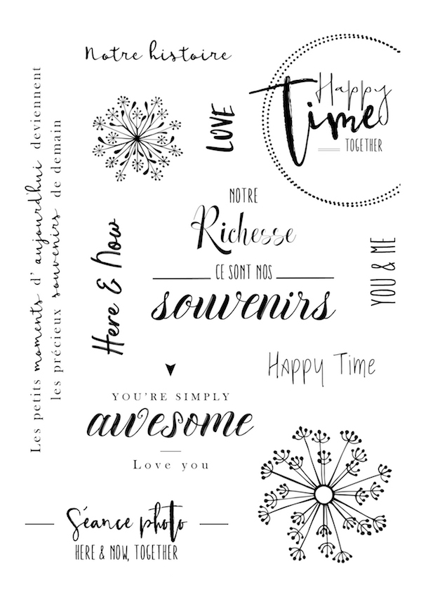 Words Transparent Clear Silicone Stamp/Seal for DIY