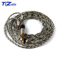 3.5mm 2.5mm 4.4mm Headphone Upgrade Wire DIY Headphones Jack Audio Cable For MMCX se215 se315 se425 se535 se846 Headset Hifi