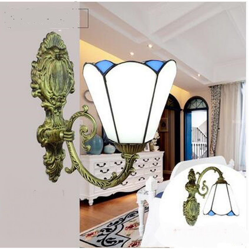 Tiffany  wall lamp Mediterranean minimalist style mirror lamp bedside dining room bedroom study single Wall Lamps DF3 LU1023
